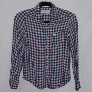 Abercrombie Kids Plaid Button Down Shirt Size 14